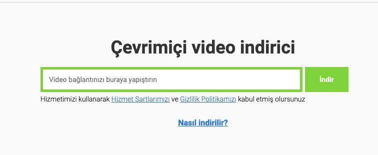 youtube video indirme programsiz