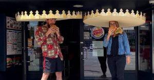 Burger King, Sosyal Mesafe İçin Kral Tacı Hediye Ediyor!