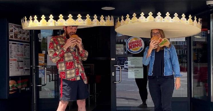 burger king kral taci veriyor