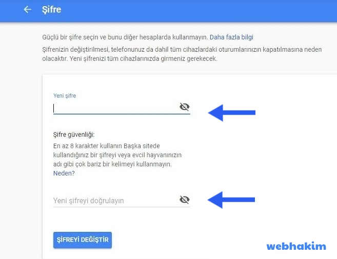 gmail sifre degistirme pc webhakim