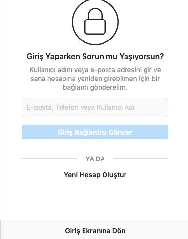 instagram hesabimin sifresini unuttum nasil geri alabilirim