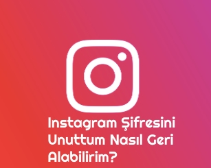 instagram sifremi unuttum