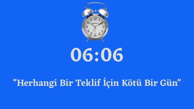 06.06 Saat Anlami