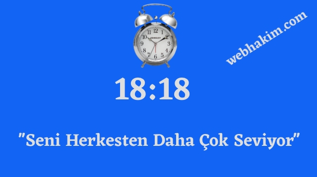 18.18 saat anlami 2020