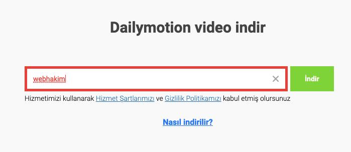 Dailymotion Video Nasil indirilir