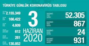 Vaka Sayısı Türkiye'de 166.422'ye Ulaştı ve Toplam Vefat Sayısı 4.609 Oldu