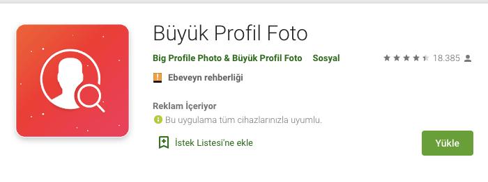 instagram profil buyutme uygulamasi android
