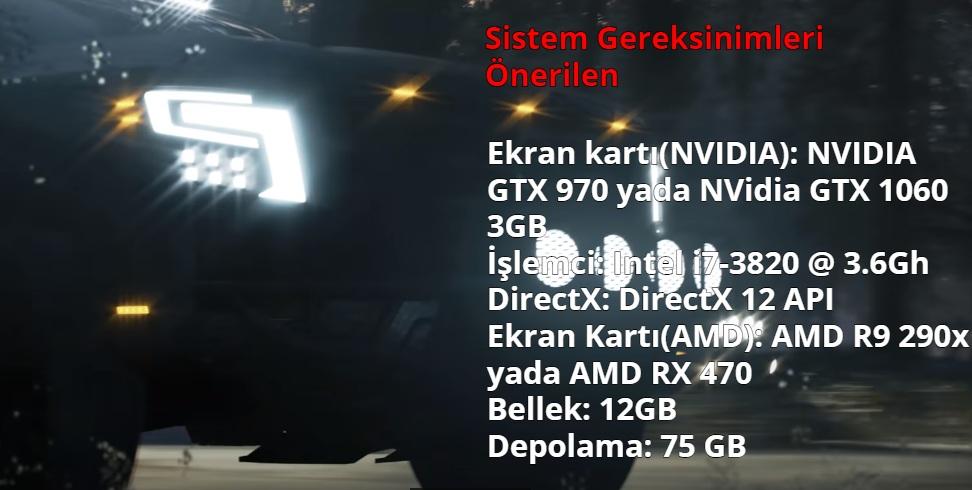 Forza Horizon 4 Sistem Gereksinimleri Onerilen