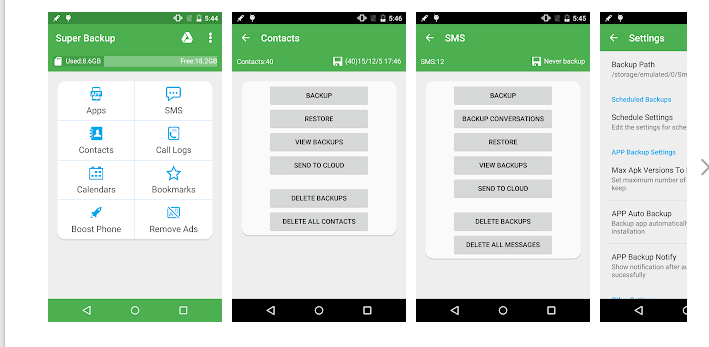 android telefon yedekleme ve geri yukleme programi