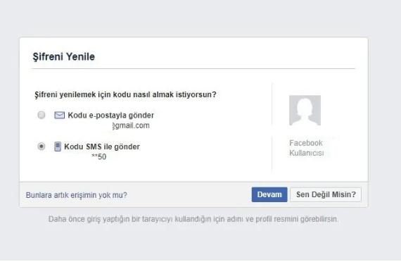 facebook sifremi unuttum giris yapamiyorum