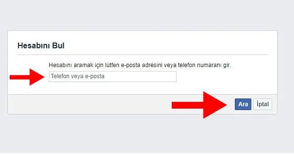 facebook sifremi unuttum nasil degistirebilirim