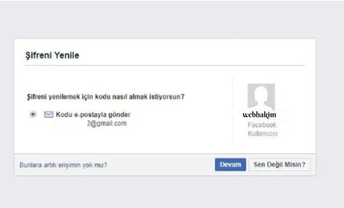 facebook sifremi unuttum ne yapabilirim