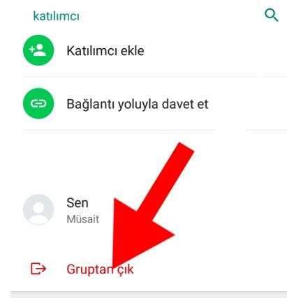 whatsapp grubu nasil silinir