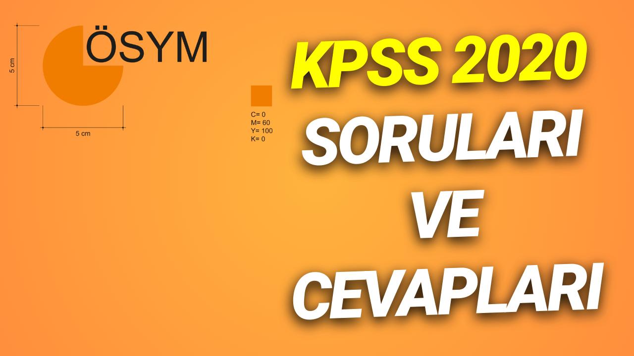 KPSS 2020 Soruları ve Cevapları