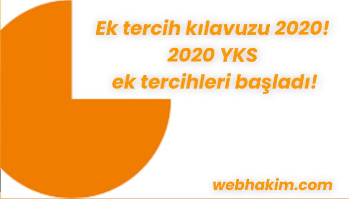 Ek tercih kılavuzu 2020