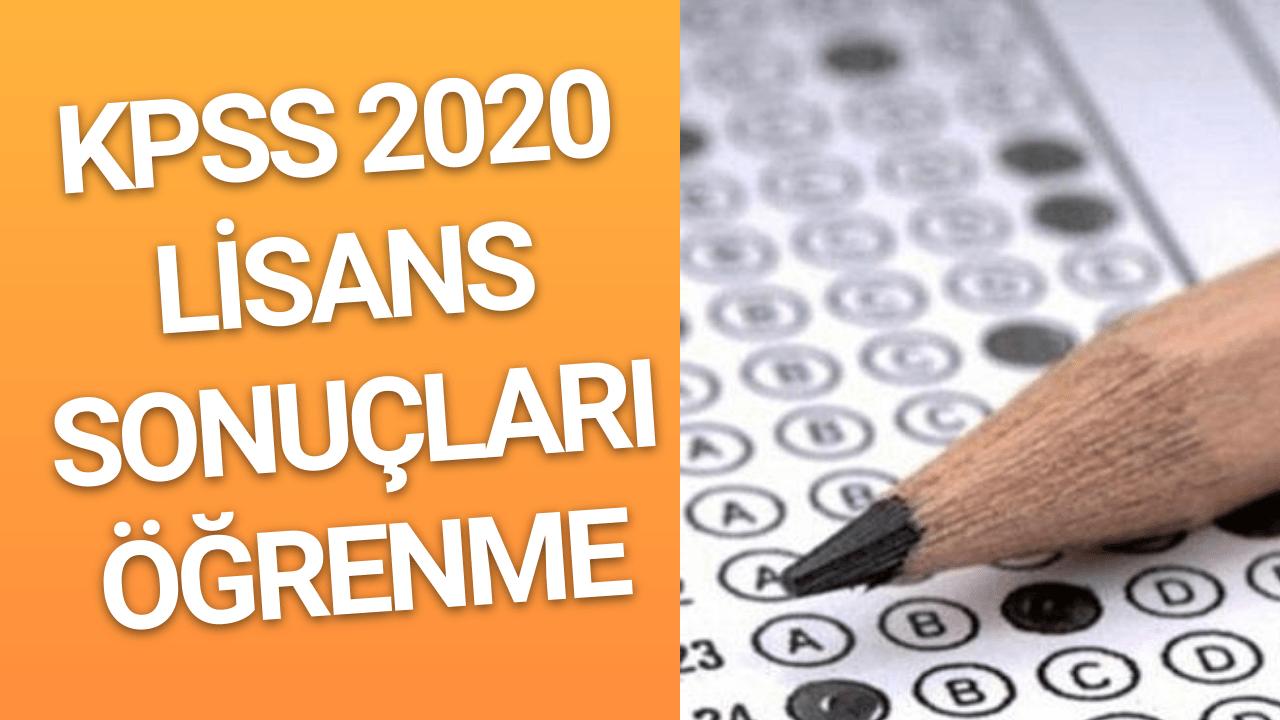 KPSS Lisans Sonuçları 2020