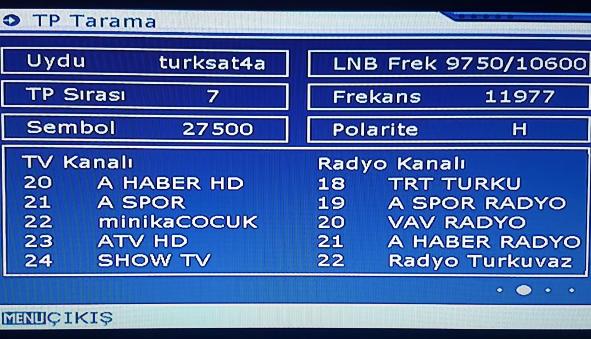 Mini Uydu Alici Türksat 4a Uydu Ekleme ve Kanal Arama 2020