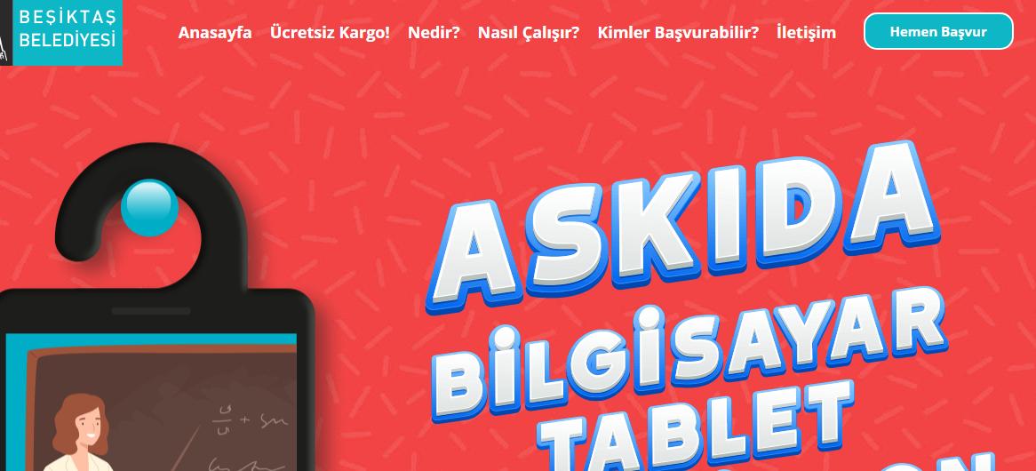 Ucretsiz tablet basvurusu Besiktas