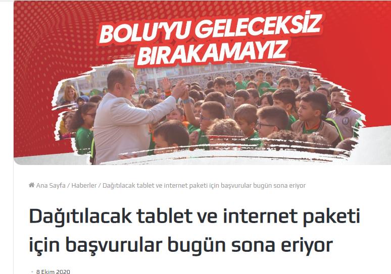 Ucretsiz tablet basvurusu bolu