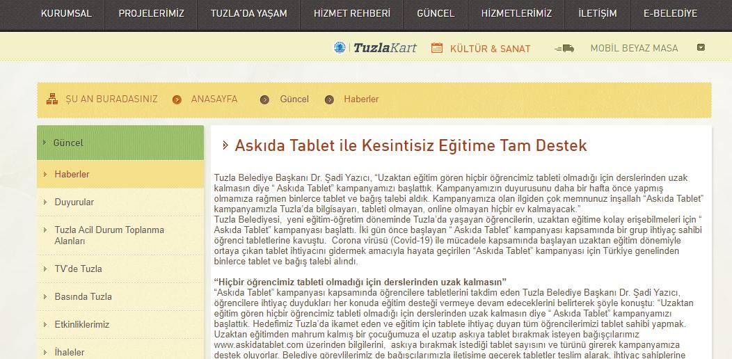 Ucretsiz tablet basvurusu tuzla