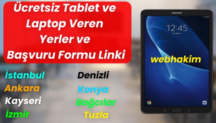 ücretsiz tablet başvurusu nasıl yapılır