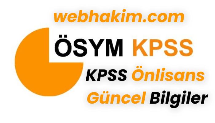 KPSS onlisans Guncel Bilgiler