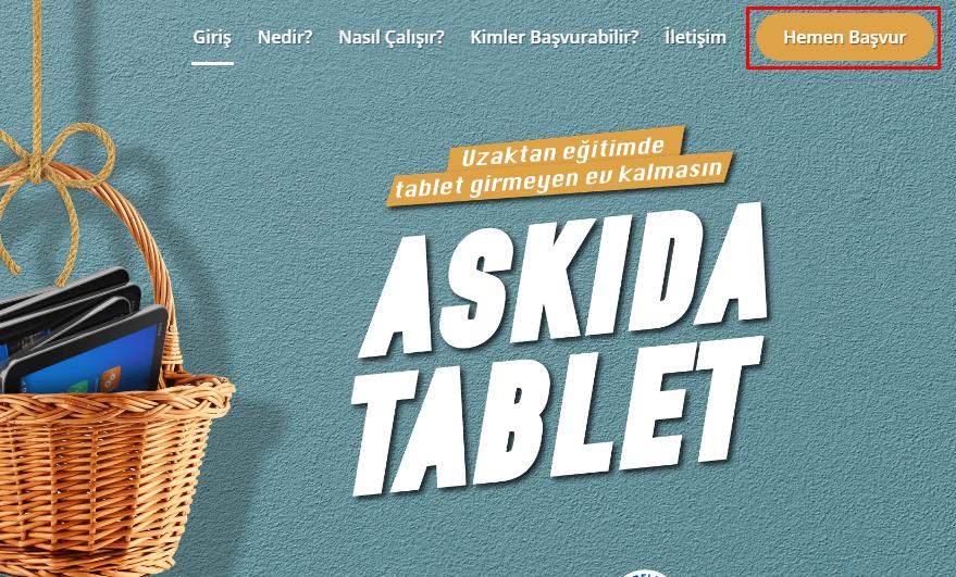 askida tablet basvuru