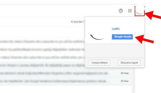 google hesap kapatma