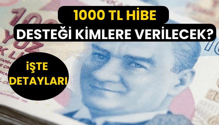 1000 TL Hibe Destegi Kimlere Verilecek