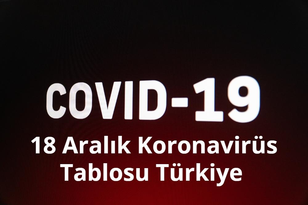 18 Aralik Koronavirus Tablosu