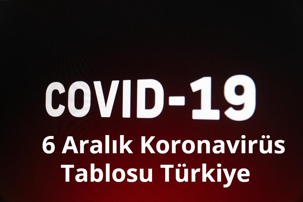 6 Aralik Koronavirus Tablosu
