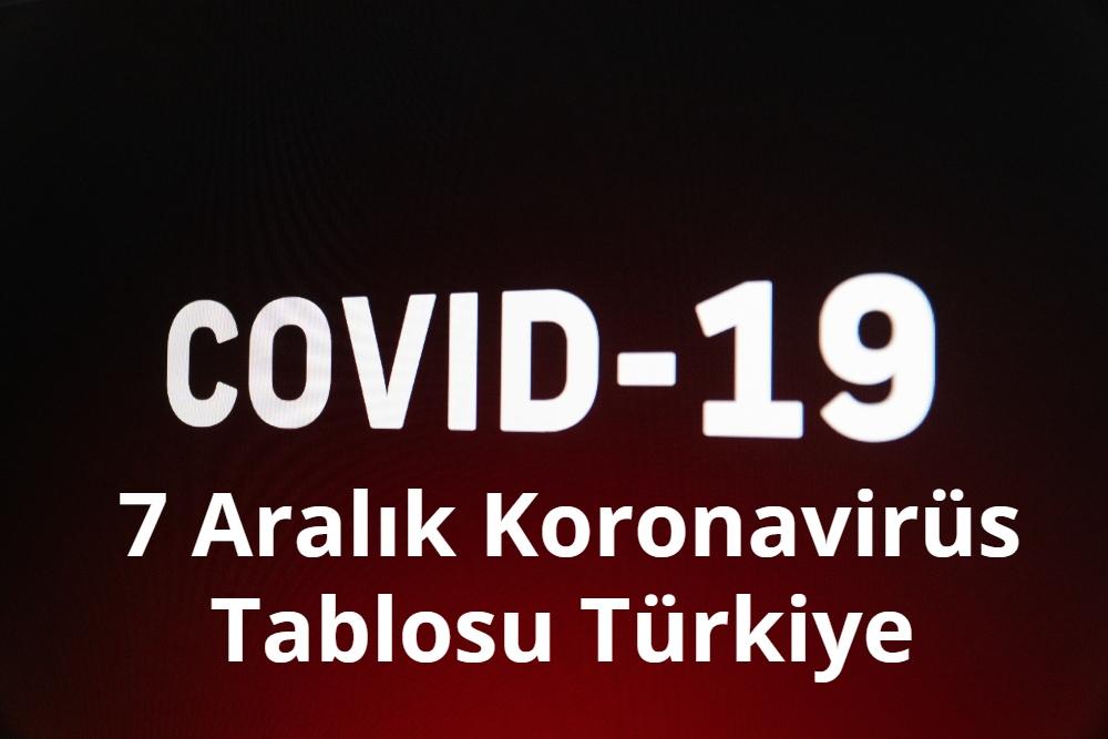 7 Aralik Koronavirus Tablosu