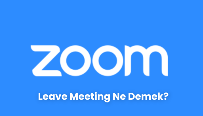 Leave Meeting Ne Demek