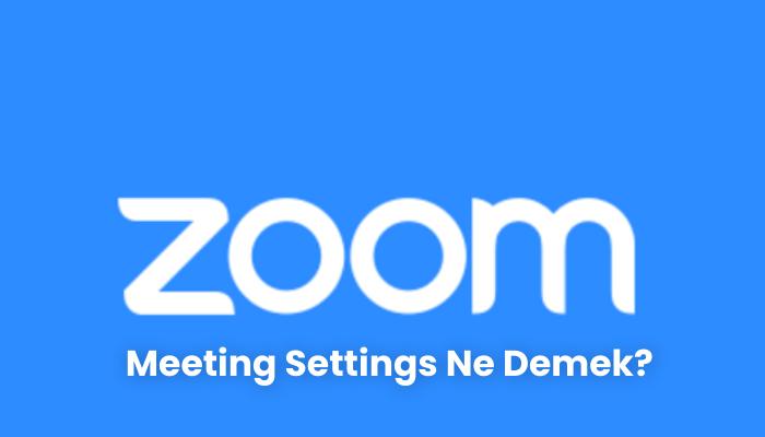Meeting Settings Ne Demek