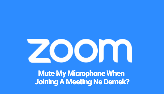 Mute My Microphone When Joining A Meeting Ne Demek