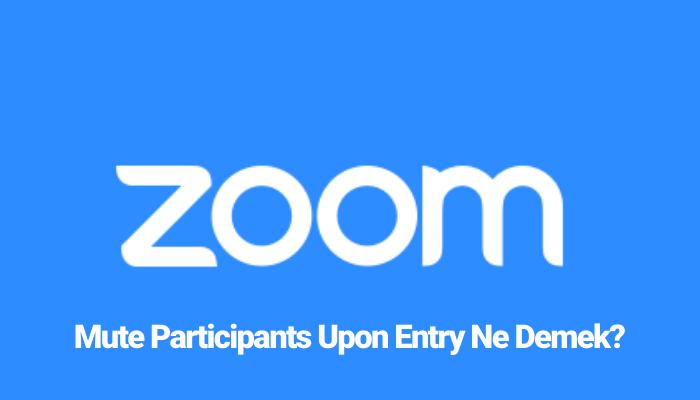 Mute Participants Upon Entry Ne Demek