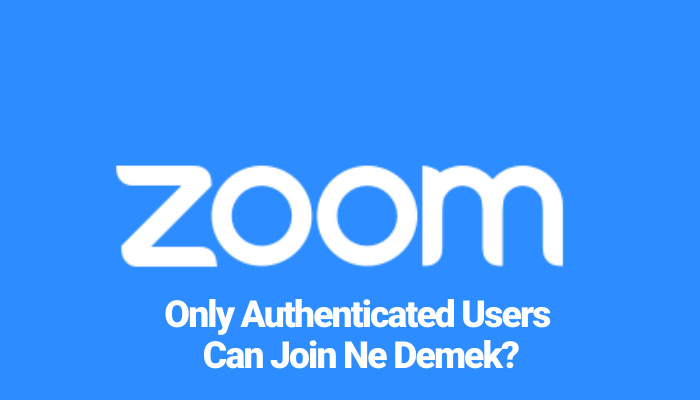 Only Authenticated Users Can Join Ne Demek