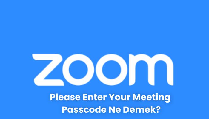 Please Enter Your Meeting Passcode Ne Demek