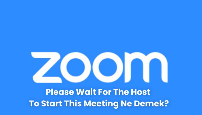 Please Wait For The Host To Start This Meeting Ne Demek