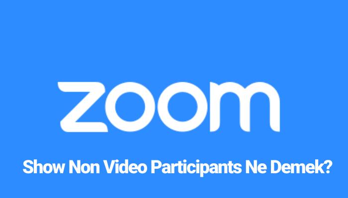 Show Non Video Participants Ne Demek