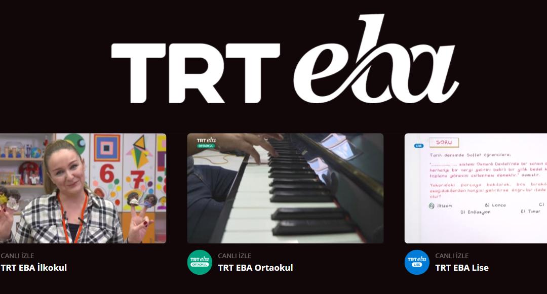 TRT EBA ilkokul ders programi