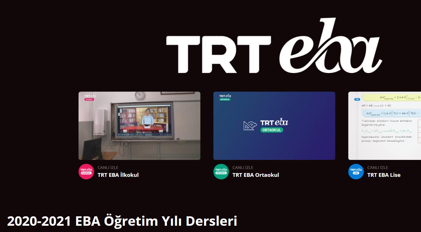 TRT EBA'da Yeni Haftanin Programi