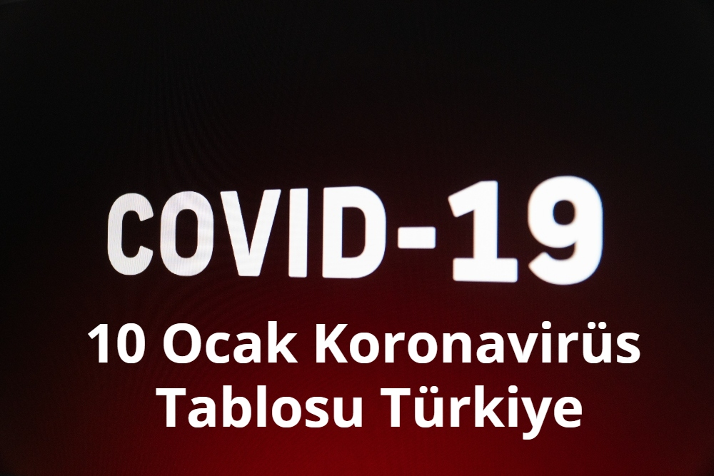 10 Ocak Koronavirus Tablosu