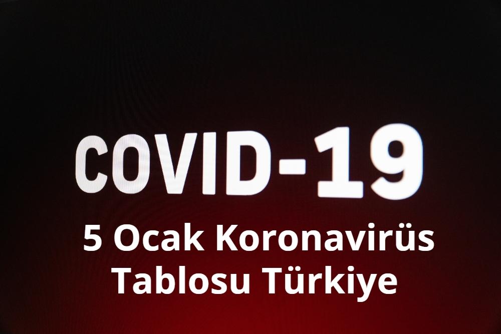 5 Ocak Koronavirus Tablosu