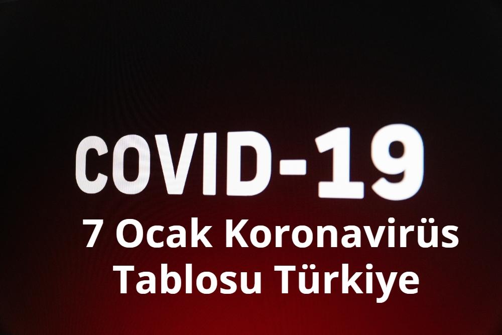 7 Ocak Koronavirus Tablosu