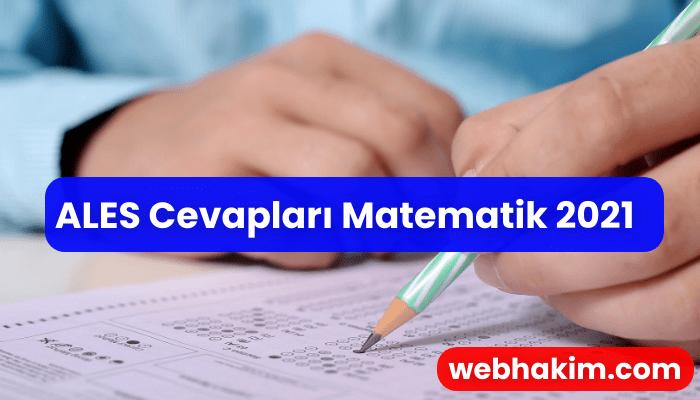 ALES Cevaplari Matematik 2021