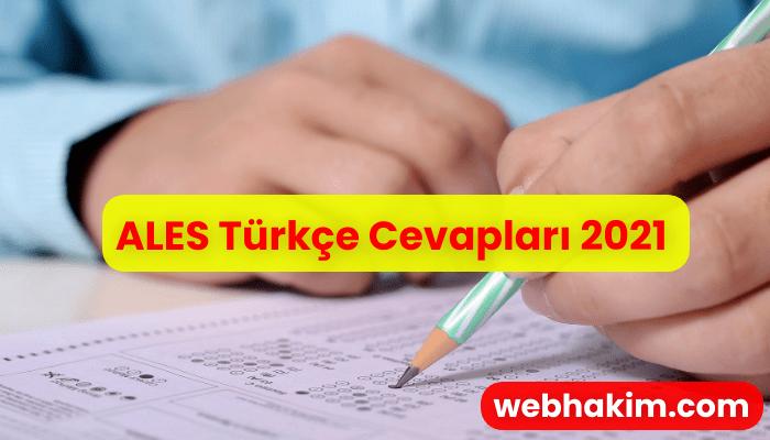 ALES Turkce Cevaplari 2021
