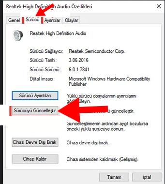 bilgisayardan ses gelmiyor windows 8
