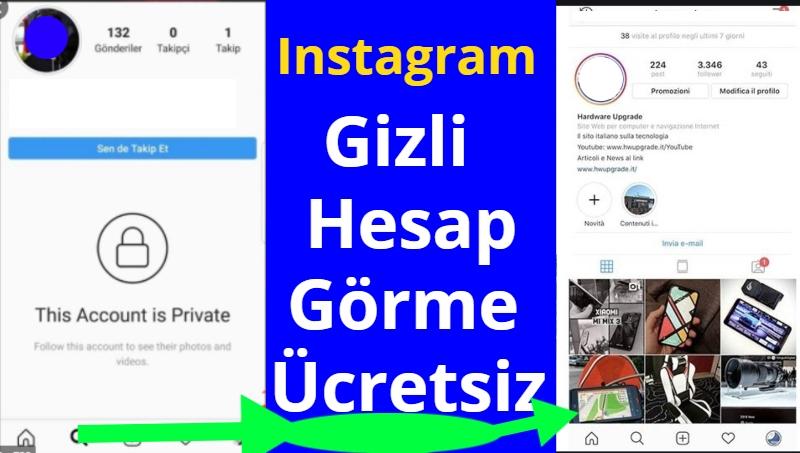 instagram Gizli Hesap Gorme ucretsiz