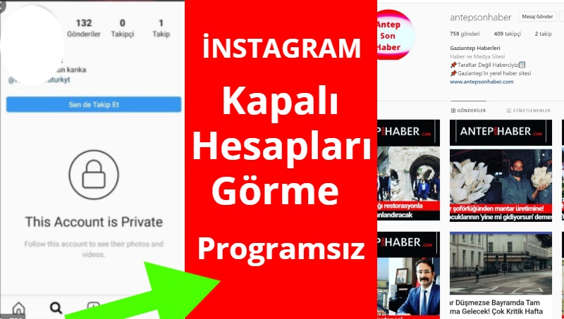 instagram'da kapali hesaplari gorme programsiz